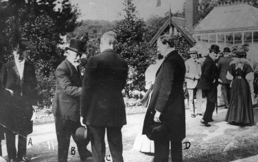 Winston Churchill at a Liberal garden party in 1907.
